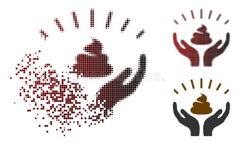Το σπασμένο σημείο ημίτονο Shit κερδίζει το εικονίδιο χεριών ελεύθερη απεικόνιση δικαιώματος
