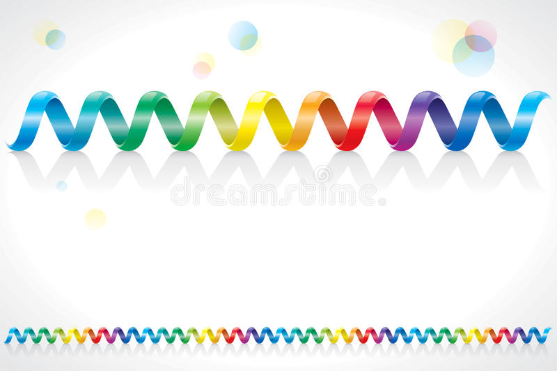 Σπειροειδές καλώδιο ουράνιων τόξων διανυσματική απεικόνιση