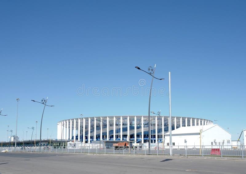 Το στάδιο σε Nizhny Novgorod για το Παγκόσμιο Κύπελλο ποδοσφαίρου το 2018 στοκ φωτογραφία