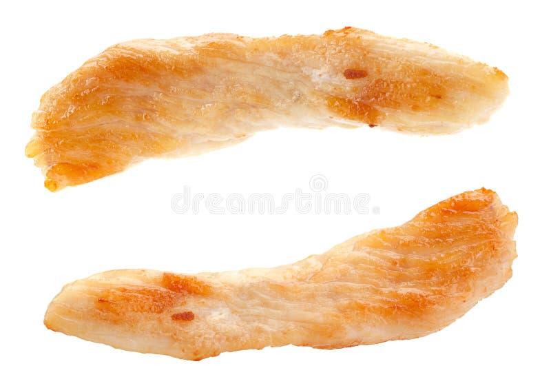 Το στήθος κοτόπουλου τηγάνισε το ραβδί στοκ εικόνα με δικαίωμα ελεύθερης χρήσης