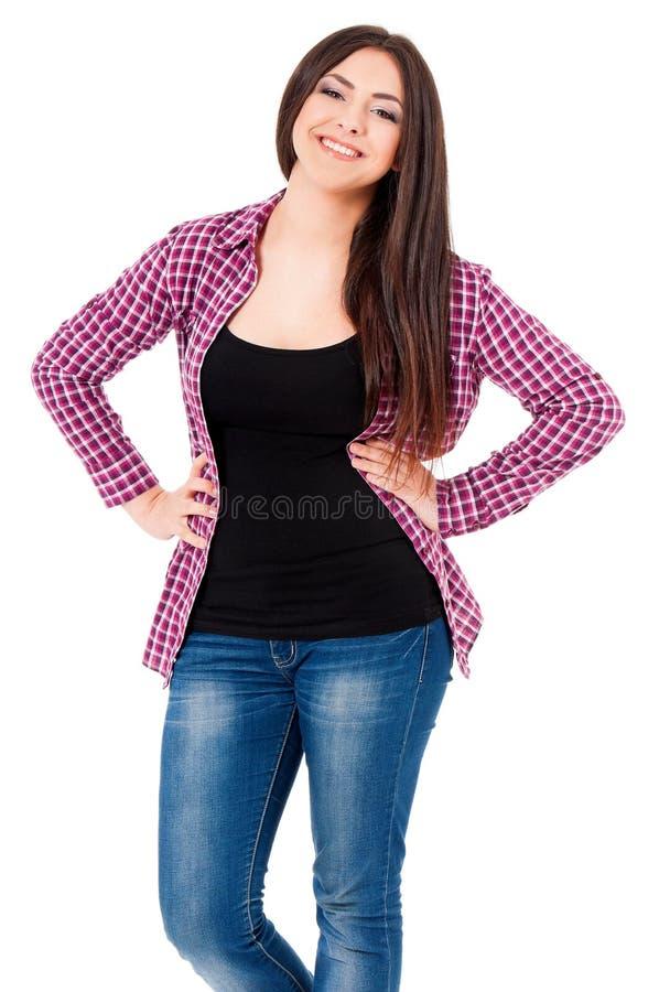 το στενό κορίτσι αυξήθηκε το σπουδαστή στοκ εικόνες