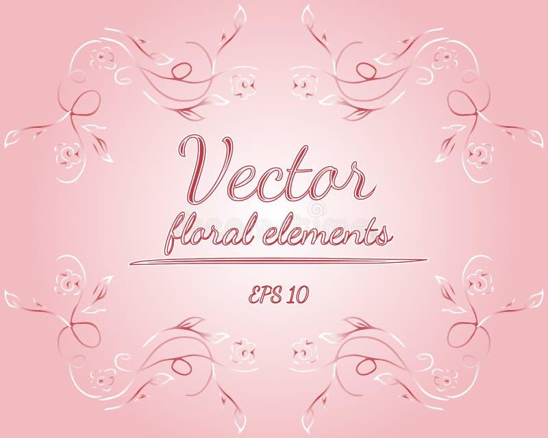 Το στεφάνι των τριαντάφυλλων ή peonies των λουλουδιών και οι κλάδοι με την αζαλέα, χλωμιάζουν - ρόδινα και άσπρα χρώματα floral σ απεικόνιση αποθεμάτων