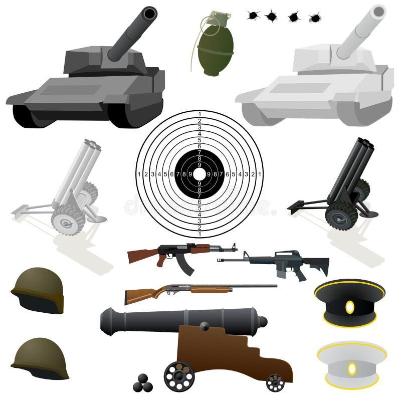 Το στρατιωτικό σύνολο ελεύθερη απεικόνιση δικαιώματος