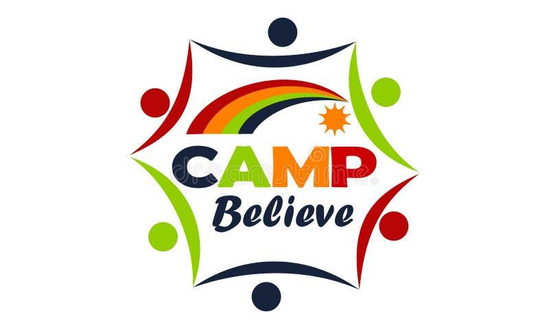 Το στρατόπεδο θεωρεί το πρότυπο σχεδίου λογότυπων ελεύθερη απεικόνιση δικαιώματος