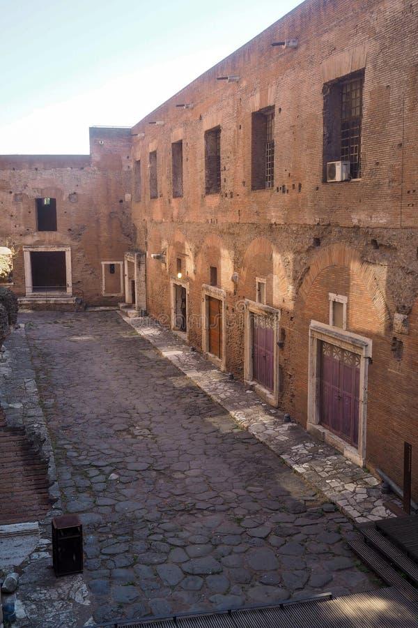 Το συγκρότημα της αγοράς του Trajan στη Ρώμη, Ιταλία στοκ εικόνα με δικαίωμα ελεύθερης χρήσης