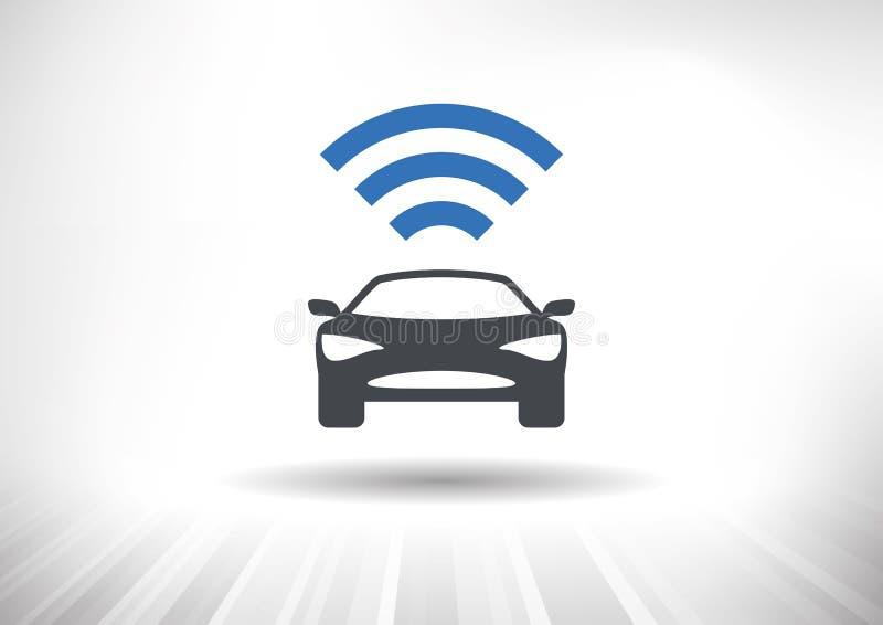 Το συνδεδεμένο αυτοκίνητο διανυσματική απεικόνιση