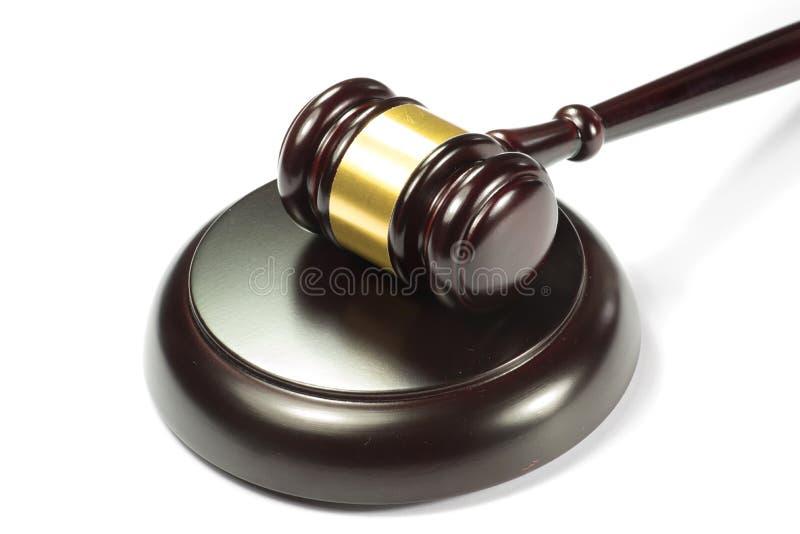 Το σφυρί ενός δικαστή ή σφυρί δημοπρασίας στοκ εικόνα