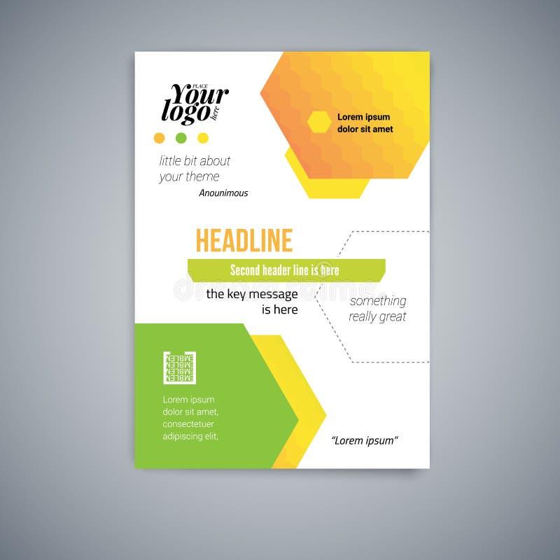 Επιχειρησιακό αφηρημένο διανυσματικό πρότυπο Το σχέδιο ιπτάμενων, καλύπτει το σύγχρονο διανυσματικό σχεδιάγραμμα, αφίσα σε A4 με  διανυσματική απεικόνιση