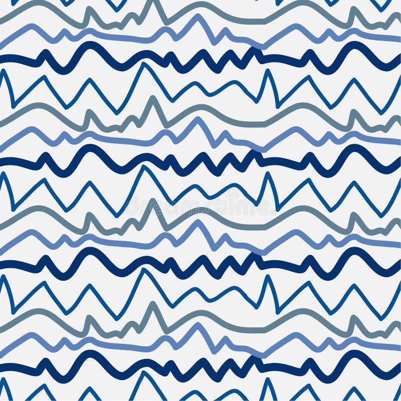 Το σχέδιο με τις μπλε γραμμές δίνει το συρμένο διάνυσμα ελεύθερη απεικόνιση δικαιώματος