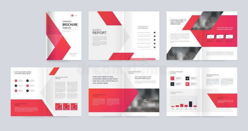 Το σχέδιο σχεδιαγράμματος προτύπων με τη σελίδα κάλυψης για το σχεδιάγραμμα επιχείρησης, ετήσια έκθεση, φυλλάδια, πρόταση, ιπτάμε ελεύθερη απεικόνιση δικαιώματος