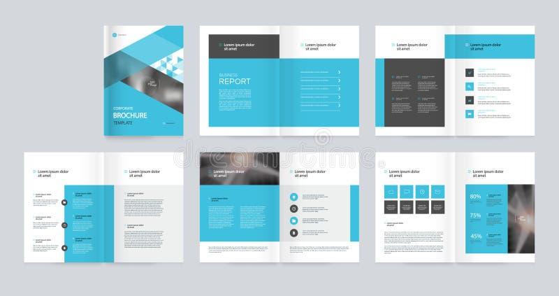 Το σχέδιο σχεδιαγράμματος προτύπων με τη σελίδα κάλυψης για το σχεδιάγραμμα επιχείρησης, ετήσια έκθεση, φυλλάδια, πρόταση, ιπτάμε απεικόνιση αποθεμάτων
