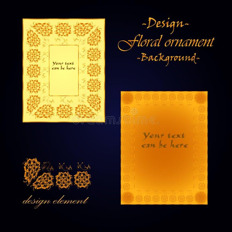 Το σχέδιο του πλαισίου βάσει της floral διακόσμησης διανυσματική απεικόνιση