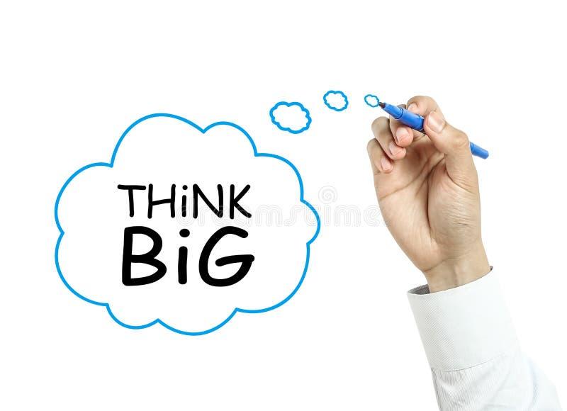 Το σχέδιο επιχειρηματιών σκέφτεται τη μεγάλη έννοια στοκ εικόνες