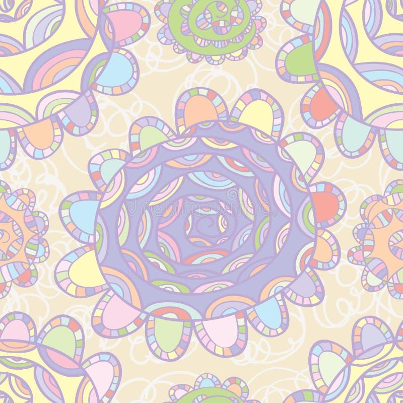 Το σχέδιο λουλουδιών χρώματος κρητιδογραφιών σύρει διανυσματική απεικόνιση