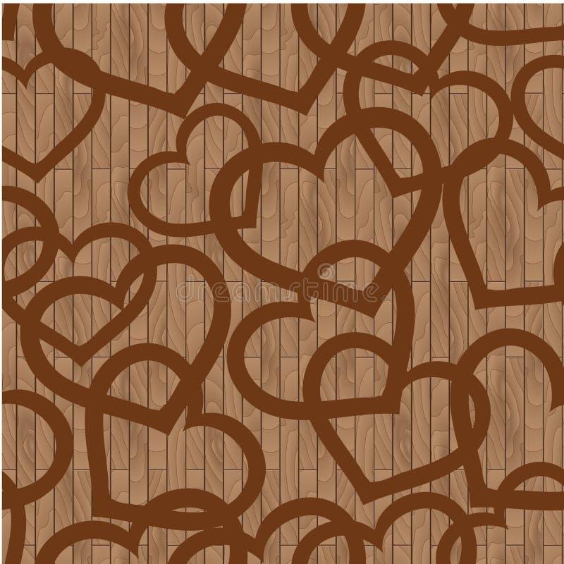 Το σχέδιο των ξύλινων πινάκων, και καρδιές στοκ εικόνες με δικαίωμα ελεύθερης χρήσης