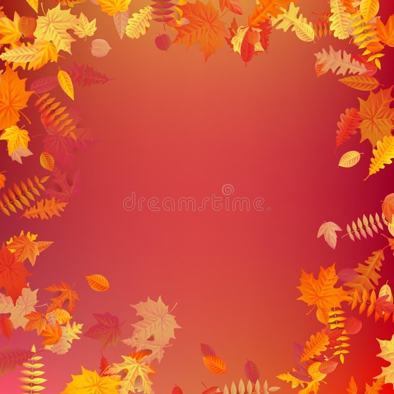 Το σχεδιάγραμμα προτύπων φθινοπώρου διακοσμεί με τα φύλλα 10 eps απεικόνιση αποθεμάτων
