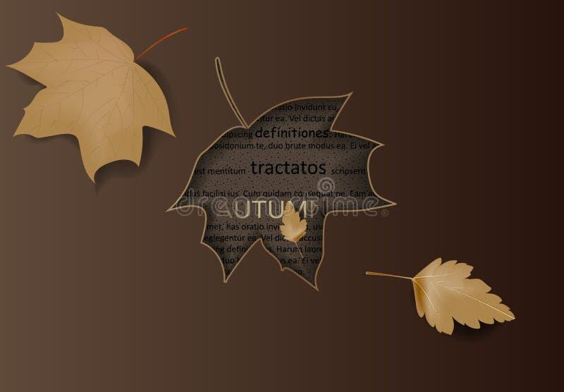 Το σχεδιάγραμμα υποβάθρου πώλησης φθινοπώρου διακοσμεί με τα φύλλα για το φυλλάδιο πώλησης αγορών ή αφισών και πλαισίων promo ή τ απεικόνιση αποθεμάτων