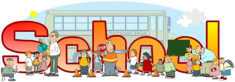 Το σχολείο λέξης ελεύθερη απεικόνιση δικαιώματος