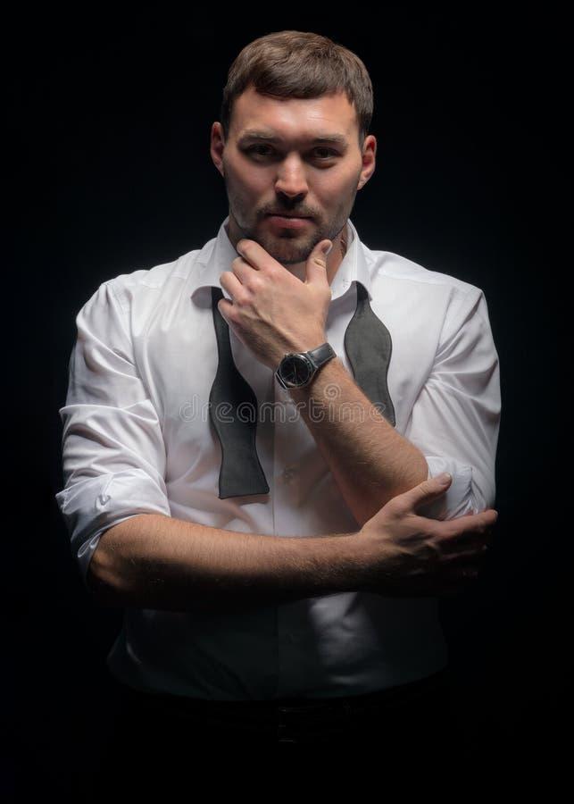 Το σύγχρονο άτομο στο κλασσικό ύφος στοκ εικόνα με δικαίωμα ελεύθερης χρήσης