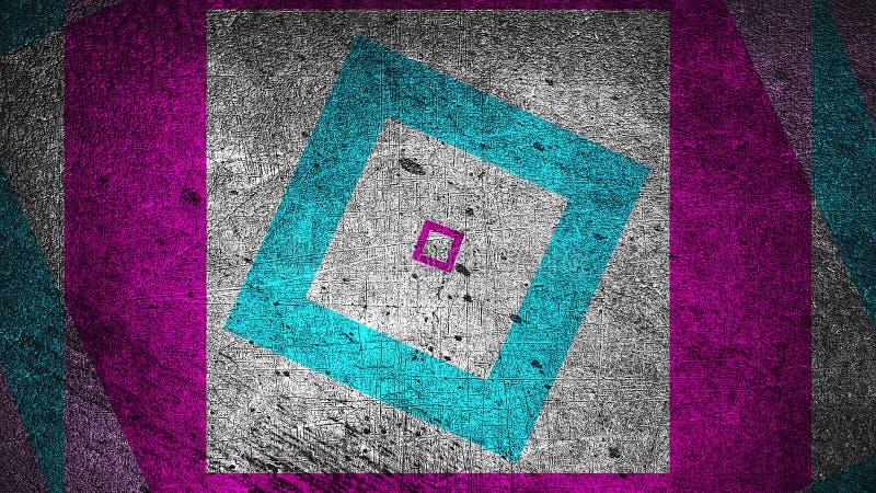 Το σύγχρονο αφηρημένο υπόβαθρο grunge με τα ορθογώνια, γρατσουνισμένη επιφάνεια, τρισδιάστατη δίνει παραγμένο το υπολογιστής σκην στοκ φωτογραφία με δικαίωμα ελεύθερης χρήσης