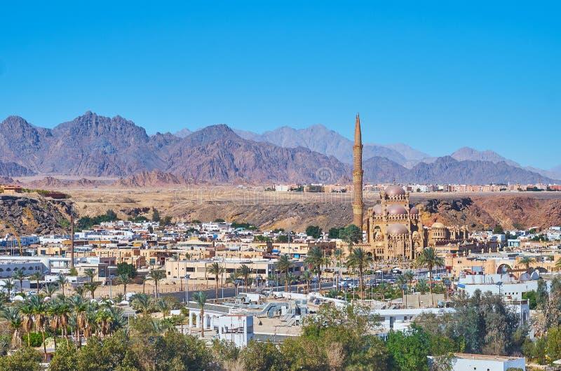 Το σύγχρονο μουσουλμανικό τέμενος Sheikh Sharm EL, Sinai, Αίγυπτος στοκ φωτογραφίες με δικαίωμα ελεύθερης χρήσης