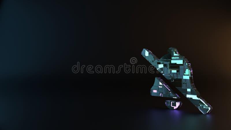 το σύμβολο μετάλλων επιστημονικής φαντασίας του εικονιδίου κάθετων κουδουνιών δίνει στοκ φωτογραφίες με δικαίωμα ελεύθερης χρήσης