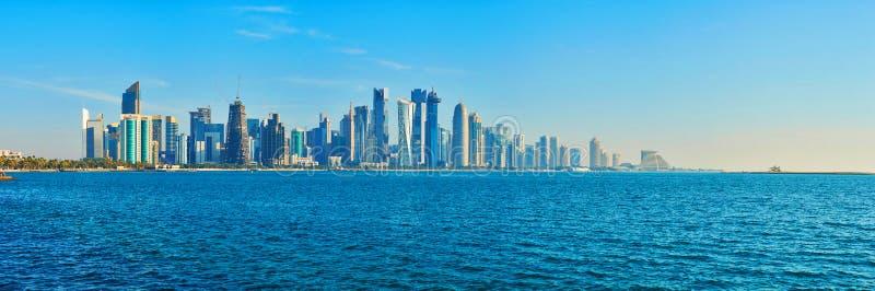 Το σύμβολο Doha, Κατάρ στοκ εικόνες