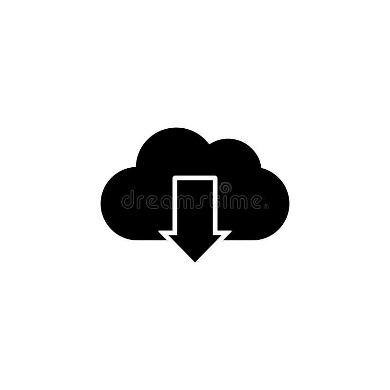 Το σύννεφο μεταφορτώνει το διάνυσμα εικονιδίων απομόνωσε 2 διανυσματική απεικόνιση