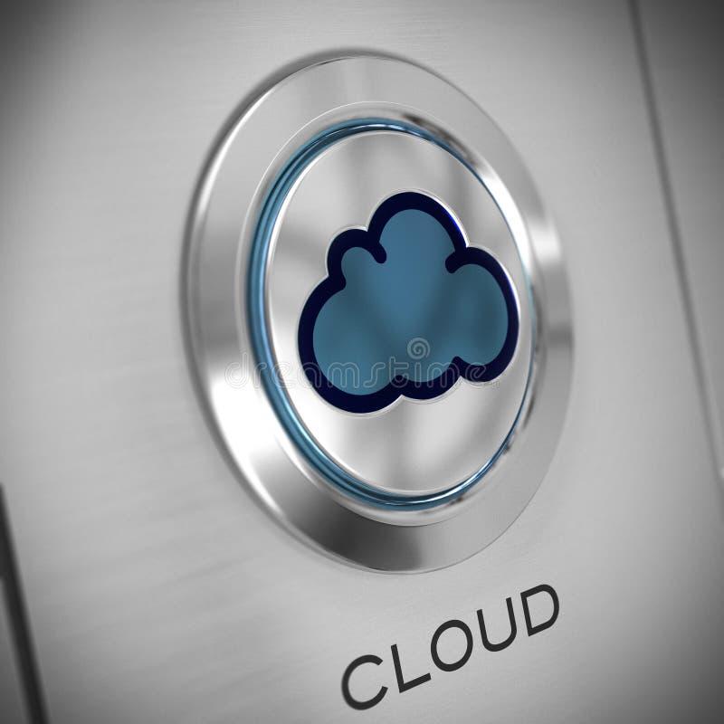 Το σύννεφο που υπολογίζει, κουμπώνει κοντά επάνω ελεύθερη απεικόνιση δικαιώματος