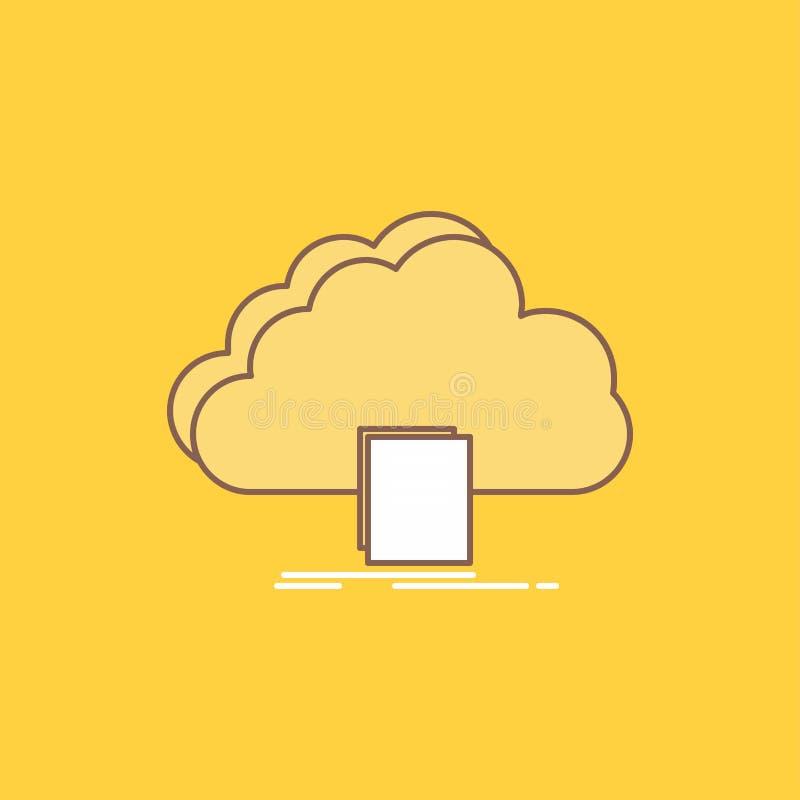 το σύννεφο, πρόσβαση, έγγραφο, αρχείο, μεταφορτώνει το επίπεδο γεμισμένο γραμμή εικονίδιο Όμορφο κουμπί λογότυπων πέρα από το κίτ απεικόνιση αποθεμάτων