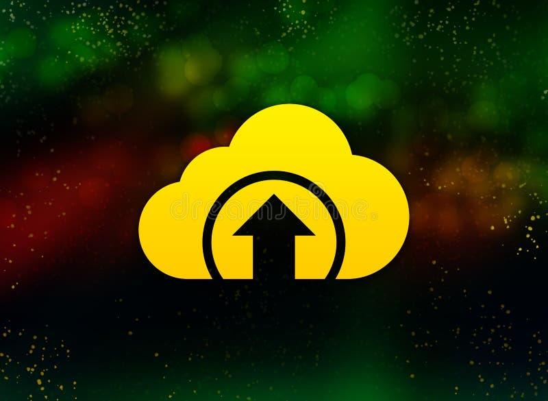 Το σύννεφο φορτώνει σκοτεινό υπόβαθρο bokeh εικονιδίων το αφηρημένο στοκ εικόνα με δικαίωμα ελεύθερης χρήσης