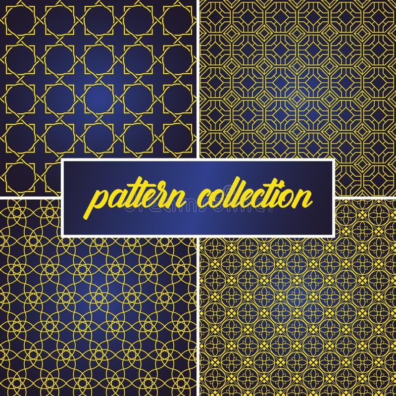 Το σύνολο ή η συλλογή του άνευ ραφής και αφηρημένου υποβάθρου σχεδίων στο αραβικό ύφος, μπορεί να χρησιμοποιήσει για το ramadan k απεικόνιση αποθεμάτων