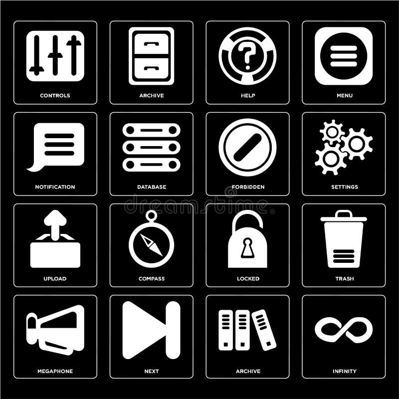 Το σύνολο απείρου, αρχείο, Megaphone, που κλειδώνεται, φορτώνει, απαγορευμένος, ελεύθερη απεικόνιση δικαιώματος