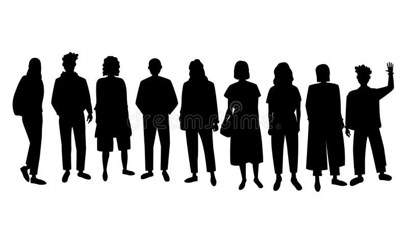 Το σύνολο διανύσματος σκιαγραφεί τους ανθρώπους απεικόνιση αποθεμάτων