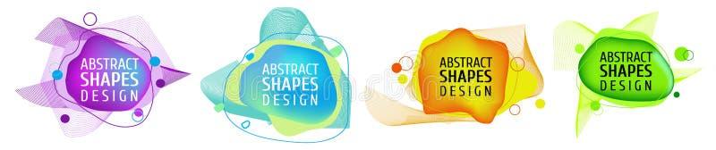 Το σύνολο δυναμικών χρωματισμένων μορφών, αφαιρεί τα σύγχρονα γραφικά στοιχεία απεικόνιση αποθεμάτων
