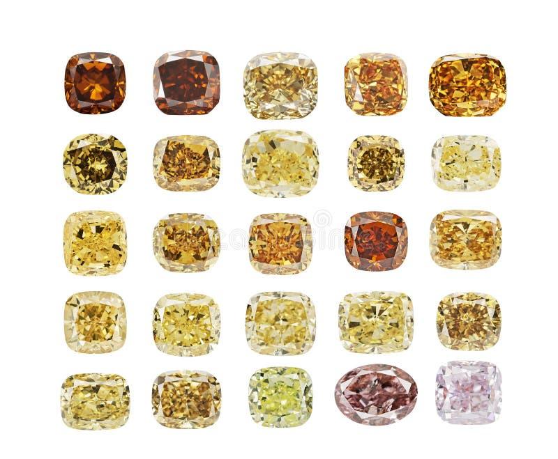 Το σύνολο πολυτέλειας διαφορετικό χρωματίζει τα διαφανή λαμπιρίζοντας διαμάντια της διάφορης μορφής περικοπών που απομονώνεται στ στοκ φωτογραφίες με δικαίωμα ελεύθερης χρήσης