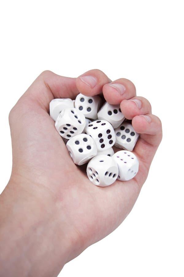 Το σύνολο χεριών του λευκού χωρίζει σε τετράγωνα απομονωμένος στο λευκό στοκ εικόνα