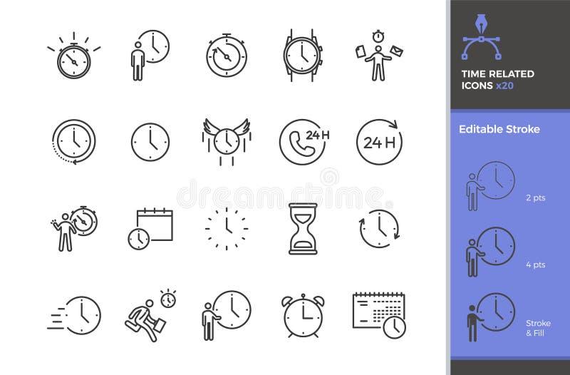 Το σύνολο χρόνου 20 αφορούσε τα διανυσματικά εικονίδια Διαφορετικοί τύποι οργάνων χρονικής μέτρησης όπως το ρολόι, χρονόμετρο με  απεικόνιση αποθεμάτων