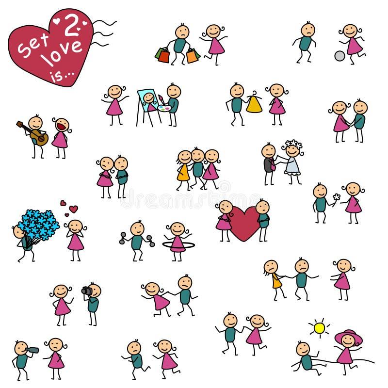 Το σύνολο 2, αγάπη είναι ελεύθερη απεικόνιση δικαιώματος