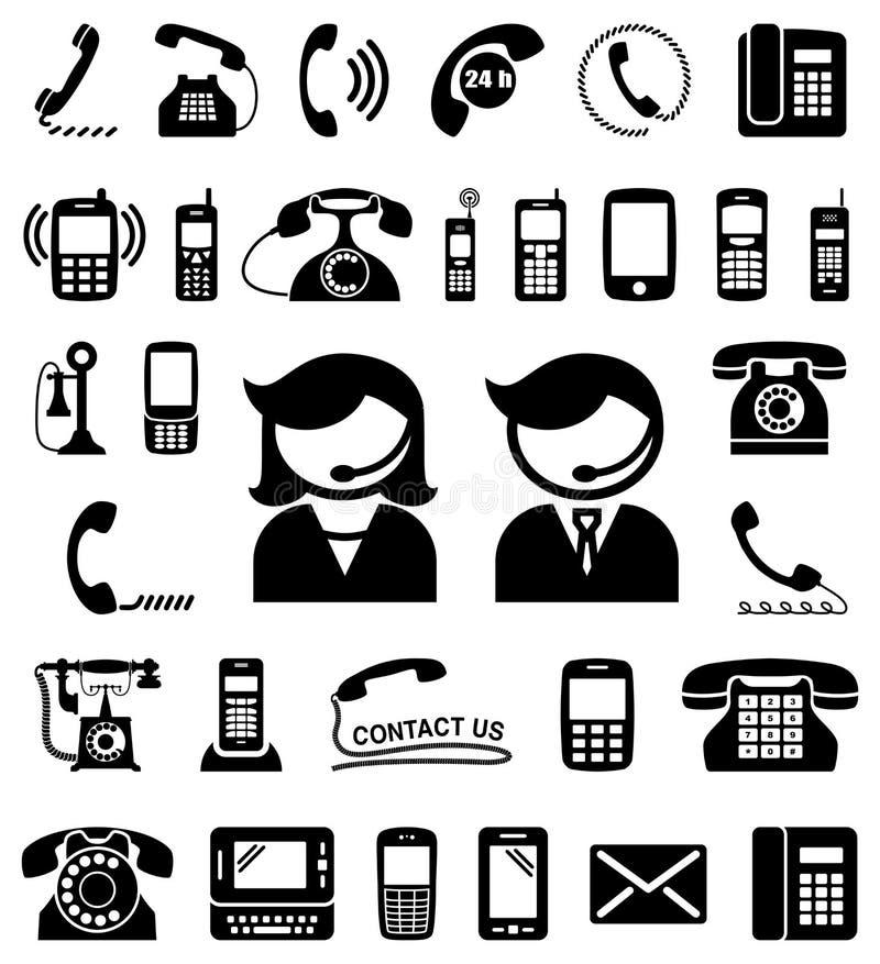Το σύνολο επικοινωνίας/μας έρχεται σε επαφή με εικονίδια απεικόνιση αποθεμάτων