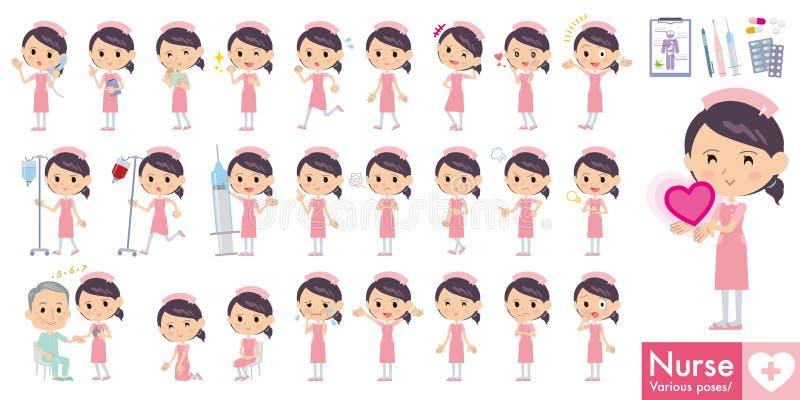 Το σύνολο διάφορου θέτει της νοσοκόμας απεικόνιση αποθεμάτων