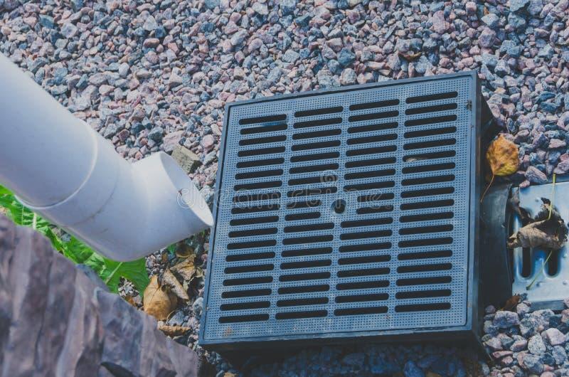 Το σύστημα αποξηράνσεων της αποξήρανσης νερού βροχής στοκ φωτογραφίες με δικαίωμα ελεύθερης χρήσης