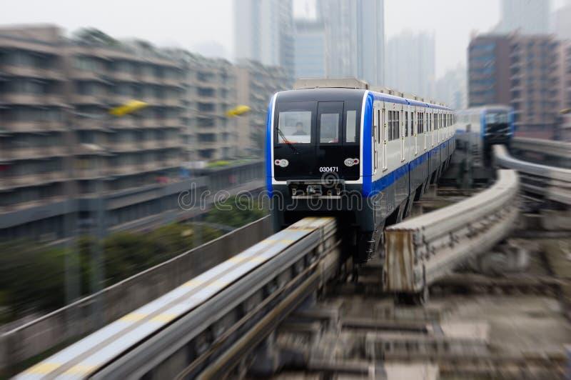 Σύστημα μονοτρόχιων σιδηροδρόμων Chongqing στοκ εικόνα