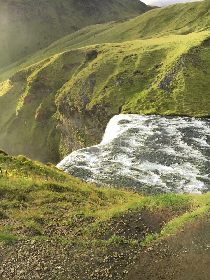 Το τέλος του ποταμού Skoga στοκ εικόνες