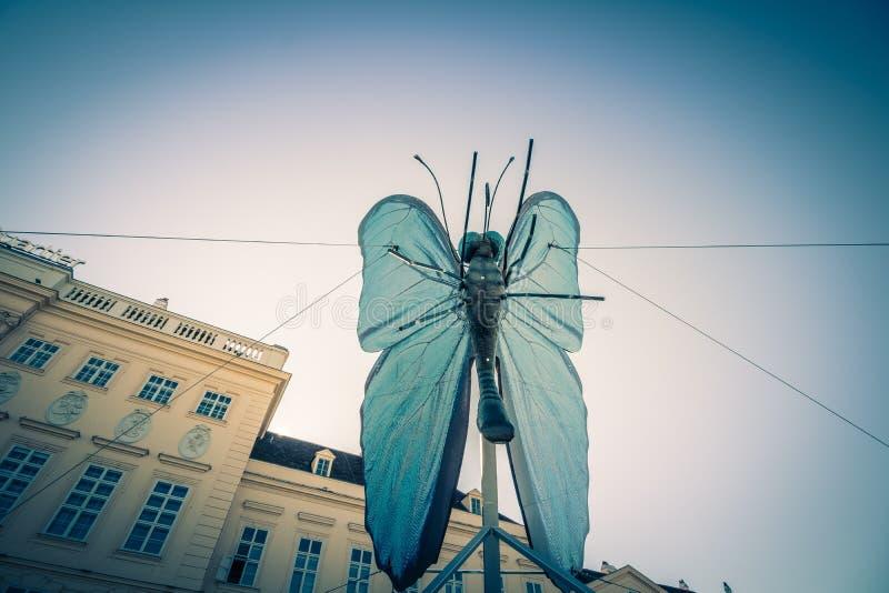 Το τέταρτο μουσείων μια ημέρα άνοιξη στη Βιέννη, Αυστρία στοκ εικόνα