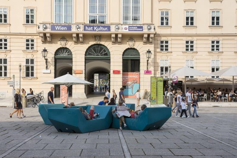 Το τέταρτο μουσείων στη Βιέννη στοκ φωτογραφία με δικαίωμα ελεύθερης χρήσης