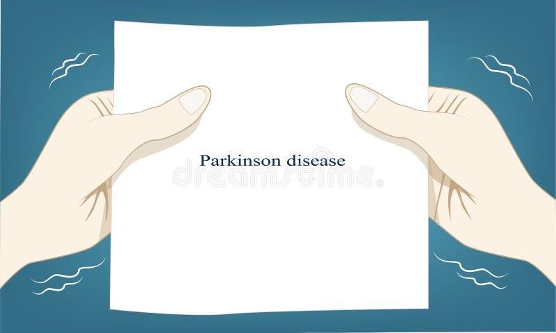 Το τίναγμα χεριών αυτόματο είναι μια αιτία Parkinson της ασθένειας διανυσματική απεικόνιση