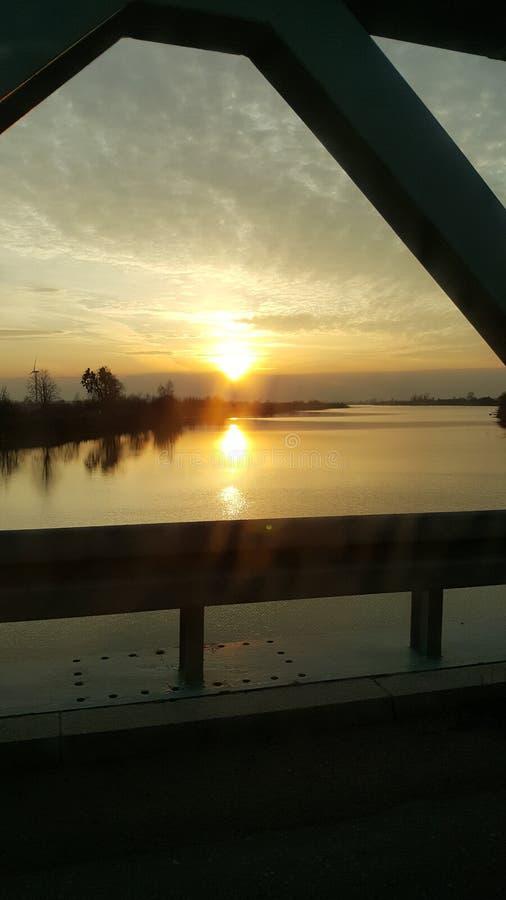 το ταξίδι ταξιδιού ηλιοβασιλέματος της Πολωνίας χαλαρώνει στοκ φωτογραφίες με δικαίωμα ελεύθερης χρήσης