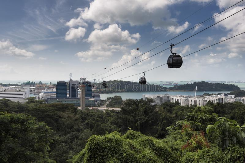 Το τελεφερίκ της Σιγκαπούρης, τοποθετεί Faber σε Sentosa, Σιγκαπούρη στοκ φωτογραφία με δικαίωμα ελεύθερης χρήσης