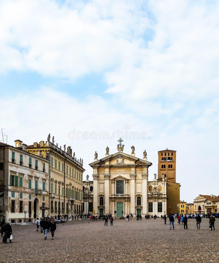 Το τετράγωνο σε Mantua στοκ εικόνες με δικαίωμα ελεύθερης χρήσης